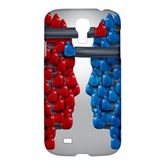 Red Boxing Gloves And A Competing Samsung Galaxy S4 I9500/i9505 Hardshell Case by AnjaniArt
