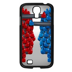 Red Boxing Gloves And A Competing Samsung Galaxy S4 I9500/ I9505 Case (black) by AnjaniArt