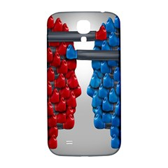 Red Boxing Gloves And A Competing Samsung Galaxy S4 I9500/i9505  Hardshell Back Case by AnjaniArt