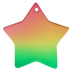 The Walls Pink Green Yellow Star Ornament (two Sides)