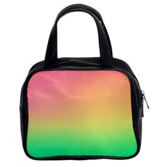 The Walls Pink Green Yellow Classic Handbags (2 Sides)