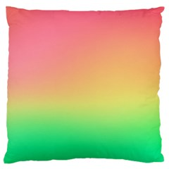 The Walls Pink Green Yellow Standard Flano Cushion Case (one Side) by AnjaniArt