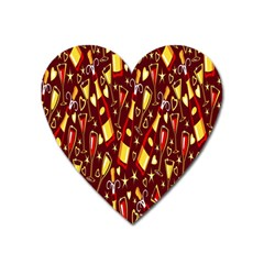 Wine Glass Drink Party Heart Magnet by AnjaniArt