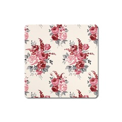 Rose Beauty Flora Square Magnet