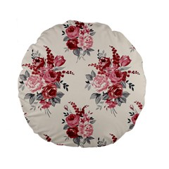 Rose Beauty Flora Standard 15  Premium Flano Round Cushions by AnjaniArt