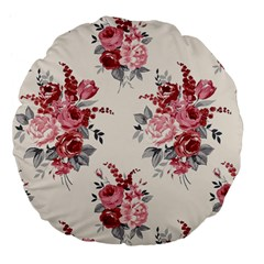 Rose Beauty Flora Large 18  Premium Flano Round Cushions