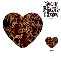 Tekstura Twigs Chocolate Color Multi Purpose Cards (heart)  by AnjaniArt
