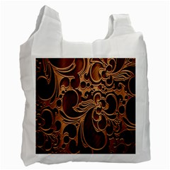 Tekstura Twigs Chocolate Color Recycle Bag (two Side)  by AnjaniArt