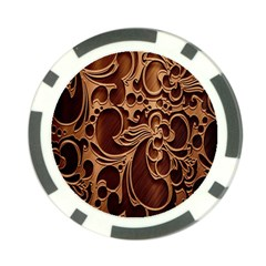 Tekstura Twigs Chocolate Color Poker Chip Card Guards (10 Pack)  by AnjaniArt