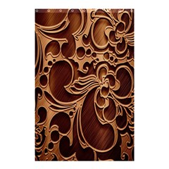 Tekstura Twigs Chocolate Color Shower Curtain 48  X 72  (small)  by AnjaniArt
