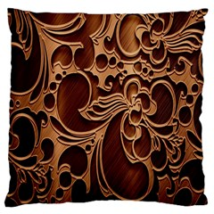 Tekstura Twigs Chocolate Color Large Cushion Case (one Side)