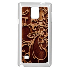 Tekstura Twigs Chocolate Color Samsung Galaxy Note 4 Case (white)