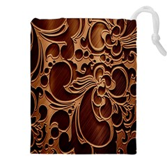 Tekstura Twigs Chocolate Color Drawstring Pouches (xxl)