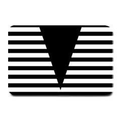 Black & White Stripes Big Triangle Plate Mats by EDDArt