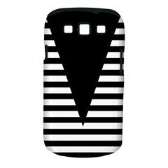 Black & White Stripes Big Triangle Samsung Galaxy S Iii Classic Hardshell Case (pc+silicone) by EDDArt