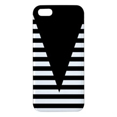 Black & White Stripes Big Triangle Iphone 5s/ Se Premium Hardshell Case by EDDArt