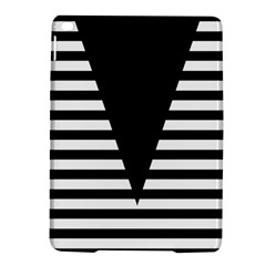 Black & White Stripes Big Triangle Ipad Air 2 Hardshell Cases by EDDArt