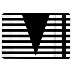 Black & White Stripes Big Triangle Ipad Air 2 Flip by EDDArt