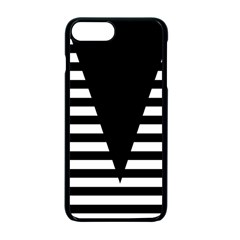 Black & White Stripes Big Triangle Apple Iphone 7 Plus Seamless Case (black) by EDDArt