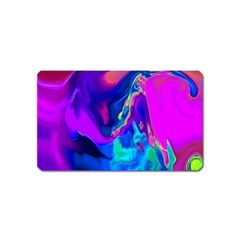 The Perfect Wave Pink Blue Red Cyan Magnet (name Card) by EDDArt