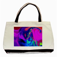 The Perfect Wave Pink Blue Red Cyan Basic Tote Bag