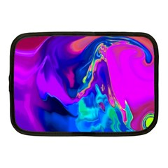 The Perfect Wave Pink Blue Red Cyan Netbook Case (medium)  by EDDArt