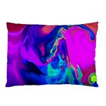 The Perfect Wave Pink Blue Red Cyan Pillow Case 26.62 x18.9 Pillow Case