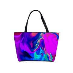 The Perfect Wave Pink Blue Red Cyan Shoulder Handbags by EDDArt