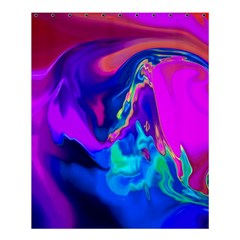 The Perfect Wave Pink Blue Red Cyan Shower Curtain 60  X 72  (medium)  by EDDArt