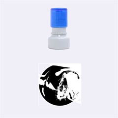The Perfect Wave Pink Blue Red Cyan Rubber Round Stamps (small) by EDDArt
