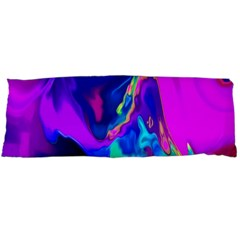 The Perfect Wave Pink Blue Red Cyan Body Pillow Case (dakimakura) by EDDArt