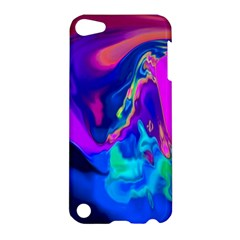The Perfect Wave Pink Blue Red Cyan Apple Ipod Touch 5 Hardshell Case by EDDArt