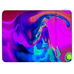 The Perfect Wave Pink Blue Red Cyan Samsung Galaxy Tab 7  P1000 Flip Case by EDDArt