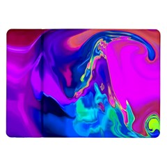 The Perfect Wave Pink Blue Red Cyan Samsung Galaxy Tab 10 1  P7500 Flip Case by EDDArt