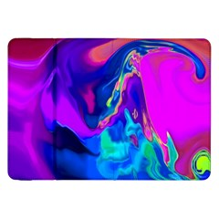 The Perfect Wave Pink Blue Red Cyan Samsung Galaxy Tab 8 9  P7300 Flip Case by EDDArt