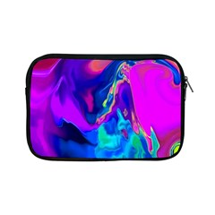 The Perfect Wave Pink Blue Red Cyan Apple Ipad Mini Zipper Cases by EDDArt