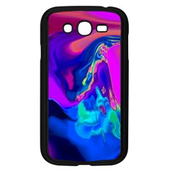 The Perfect Wave Pink Blue Red Cyan Samsung Galaxy Grand Duos I9082 Case (black) by EDDArt