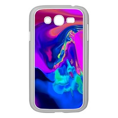 The Perfect Wave Pink Blue Red Cyan Samsung Galaxy Grand Duos I9082 Case (white) by EDDArt