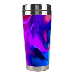 The Perfect Wave Pink Blue Red Cyan Stainless Steel Travel Tumblers by EDDArt