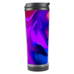 The Perfect Wave Pink Blue Red Cyan Travel Tumbler by EDDArt