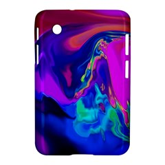 The Perfect Wave Pink Blue Red Cyan Samsung Galaxy Tab 2 (7 ) P3100 Hardshell Case  by EDDArt