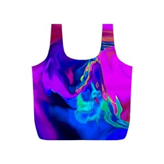 The Perfect Wave Pink Blue Red Cyan Full Print Recycle Bags (s)  by EDDArt