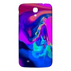 The Perfect Wave Pink Blue Red Cyan Samsung Galaxy Mega I9200 Hardshell Back Case by EDDArt
