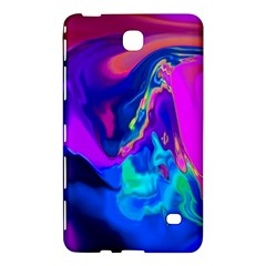 The Perfect Wave Pink Blue Red Cyan Samsung Galaxy Tab 4 (8 ) Hardshell Case  by EDDArt