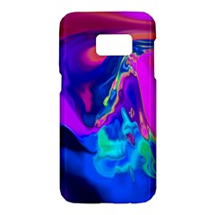 The Perfect Wave Pink Blue Red Cyan Samsung Galaxy S7 Hardshell Case  by EDDArt