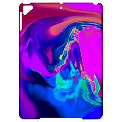 The Perfect Wave Pink Blue Red Cyan Apple Ipad Pro 9 7   Hardshell Case by EDDArt