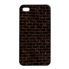 Brick1 Black Marble & Brown Marble Apple Iphone 4/4s Seamless Case (black) by trendistuff
