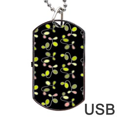 My Beautiful Garden Dog Tag Usb Flash (two Sides)  by Valentinaart