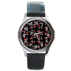My Creative Garden  Round Metal Watch by Valentinaart