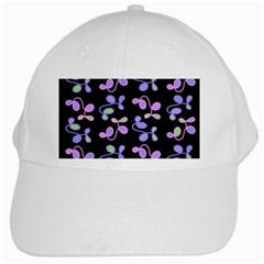Purple Garden White Cap by Valentinaart